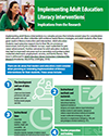 Implementing Adult Education Literacy Interventions